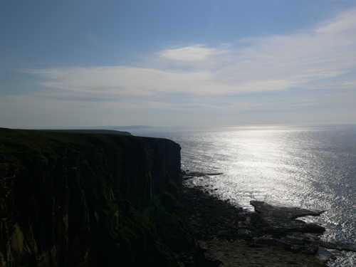 The view from Dunnet head facing west